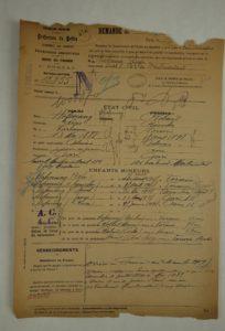 Extrait du dossier de naturalisation de la famille Hofenung.