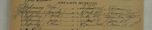Extrait du dossier de naturalisation de la famille en 1929