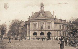La mairie du 20ème arrondissement, place Gambetta où se sont mariés Riwka et Leizer.