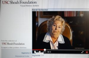Témoignage de Sarah Hofenung pour la Visual Shoah Foundation en 1996, un mois après le décès de sa soeur Rosa. (1)